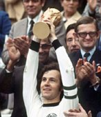 Beckenbauer lifting the world cup