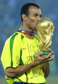 Cafu with the World Cup